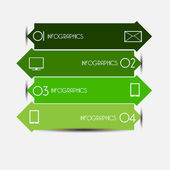 Vector illustration of modern design template — Stock Vector