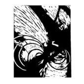 Vintage engraved illustration abstract retro style. vector illu — Stock vektor