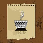 Kaffee-Tasse-Symbol, retro-Stil — Stockvektor