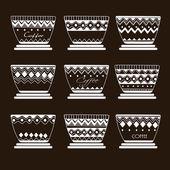 Kawy filiżanka ikona, w stylu retro — Wektor stockowy