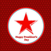 Happy Presidents Day American Background — Stockvektor