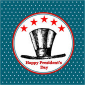 Happy Presidents Day American Background — Stockvector