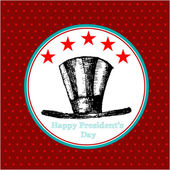 Happy Presidents Day American Background — Vecteur