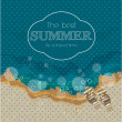 Beautiful Summer Poster. Vector background — Stock Vector #41206791