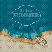 Cartaz lindo de verão. de fundo vector — Vetor de Stock
