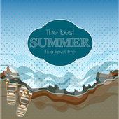 Krásné letní plakát. vektorový pozadí — Stock vektor