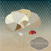 Beautiful Summer  Poster. Vector background — Vector de stock
