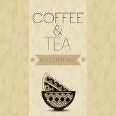 Tea and Coffee time card. vector illustration — Stock Vector