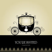 Vintage Wedding Invitation — Stock Vector