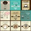 Set of  Vintage Wedding Invitation — Stock Vector #42061201