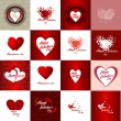 Set of Happy valentines day cards — Stock Vector #42062899