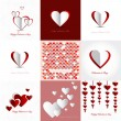 Set of Happy valentines day cards — Stockvector