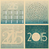 Set of 2015 european year calendar — Stock Vector