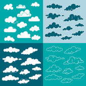 Set of   clouds collection — Stock Vector