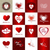 Set of Happy valentines day cards — Stock Vector