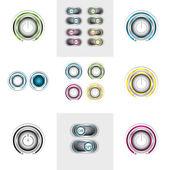 Set of   button — Stock Vector