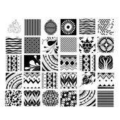 Universal different vector seamless patterns — Cтоковый вектор