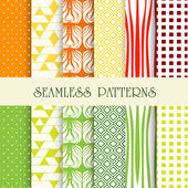 Seamless abstract retro pattern. — Stock Vector