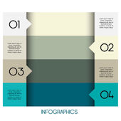 Plantilla de diseño moderno puede ser utilizado para infografía — Vector de stock