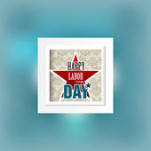 Happy Labor day american — Stock Vector