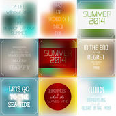 Set of vintage Typographic Backgrounds,  Motivational Quotes — Stock Vector