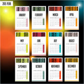 2015 european year calendar — Stock Vector