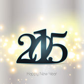 Happy new year 2015 greeting card design. — Vector de stock