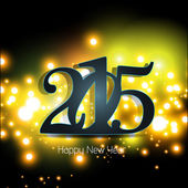 Happy new year 2015 greeting card design. — Stock vektor