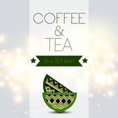 Tea and Coffee time card — ストックベクタ