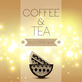 Tea and Coffee time card — Vetorial Stock