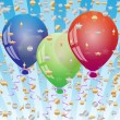 Celebration background with balloons — Stock Vector
