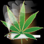 Marijuana-Cannabis-Joint — Vector de stock