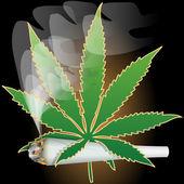 Illustration of marijuana as a symbol of the drug. — Stock Vector