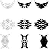 Set of decorative elements — Stock Vector