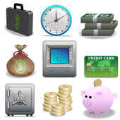 Icon set-Finance — Vector de stock
