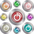 Power buttons — Stock Vector