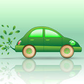 Eco-car — Stock Vector