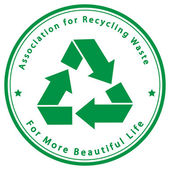 Association for Recycling Waste — Stock Vector