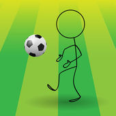 Football-Soccer — Vector de stock