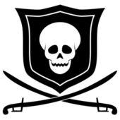 Pirate embleem — Stockvector