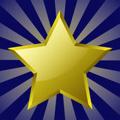 Gold star — Stock Vector