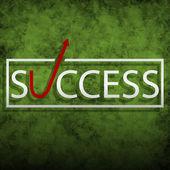 éxito — Vector de stock