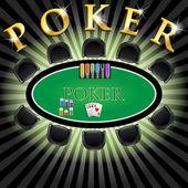 Poker-Tisch — Stockvektor