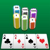 扑克桌 — 图库矢量图片
