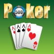 Poker — Stock Vector