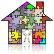 My house puzzle — Stock Vector #40720703