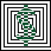 Peníze maze — Stock vektor