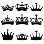Crown set — Vector de stock