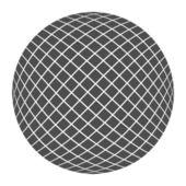 Černý míč — Stock vektor