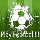 Jogar futebol — Vetorial Stock